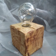 2 Palettenlicht Licht Lampe LED Leuchte Holz Palette Klotz Industrie Design made by Soulous Art