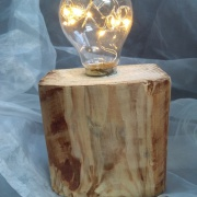 3 Palettenlicht Licht Lampe LED Leuchte Holz Palette Klotz Industrie Design made by Soulous Art
