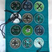 E-Book Reader Hülle Case Hülle Tasche Schutz upcycling leicht Filz grün Nespresso Kaffee Kapseln gefertigt von Marion Heine Soulous Art