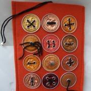 E-Book Reader Hülle Case Hülle Tasche Schutz upcycling leicht Filz orange Nespresso Kaffee Kapseln gefertigt von Marion Heine Soulous Art